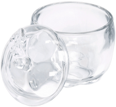 Glass Apple Shape Jar with Lid