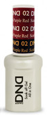 #02 - DND Mood Gel - Scarlet To Purple Red 0.5 oz