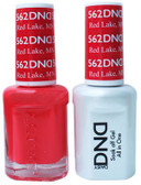 #562 - DND DUO GEL WITH MATCHING POLISH - RED LAKE