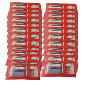 Red Nail Pedicure Pumice Kit  - 25 pcs