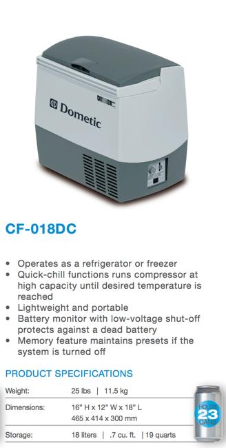 travel cooler 12 volt cooler freezer dometic cdf 11. Black Bedroom Furniture Sets. Home Design Ideas