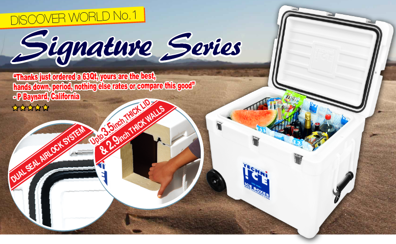 Techniice Coolers - A Premium Wheeled Cooler Brand Designed Like No Other.