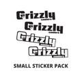 Small Grizzly Logo Sticker 4 Pack