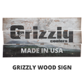 Grizzly Wood Plank Sign