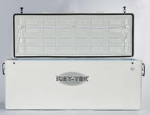 600 Quart Icey-Tek Cooler Long Box - Open Lid