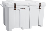 The 150 & 400 Grizzly Coolers with our unique latching system have been Certified Bear Resistant by the ICBC testing protocols when combined with two shackle padlocks. Grizzly 400 White