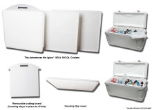 The Adventurer - Divide 'n' Cut Cooler Dividers For Igloo Coolers