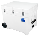 This 85 liter model has 70mm walls (Yes you Read it Right !! 70 mm Walls) that is more than twice as thick as most polyethylene ice boxes, and much thicker than fiberglass ice boxes