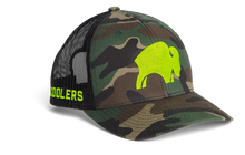 Bison Cap Camo and neon green