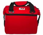 AO Canvas 12 pack soft cooler bag red leakproof