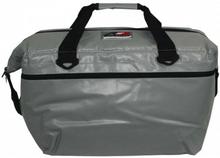 AO 48 pack vinyl soft cooler Silver