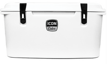 "ICON 75 Cooler - Bonefish White is a different take on the traditional white seen on most standard coolers today.  This soft tint makes the job of cleaning mars, rubs and worn-on dirt easier.  This finish is the go-to ""white"" cooler in the ICON lineup."