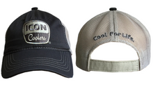 ICON unstructured velcro hat charcoal