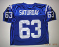 Jeff Saturday Autographed Colts Jersey-Blue