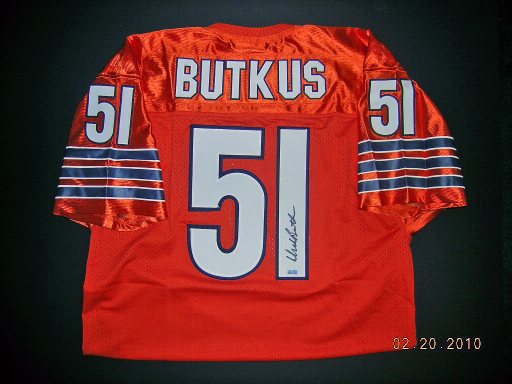 reputable site 9ce5a b2b9d Dick Butkus Chicago Bears Signed Jersey - Man Cave ...