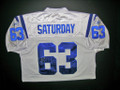 Jeff Saturday Autographed Colts Jersey-White