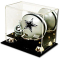 Mini-Helmet Display Case-Mirror and Shelf
