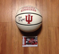 Bob Knight AUTOGRAPHED IU Basketball with Display Case