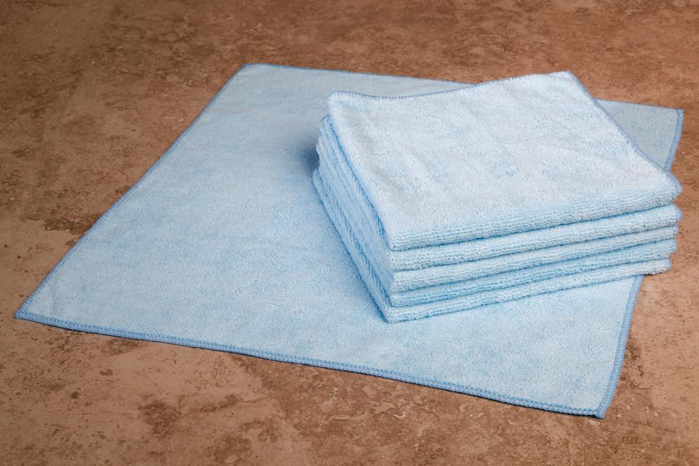 16 x 16 Microfiber Terry Towel (blue, 200/case)