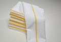 14 x 17 Microfiber Terry Towel (yellow stripe, 200/case)