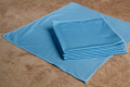 16 x 16 Microfiber Glass Towel (blue, 200/case)