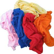 Coloured Soft Knit T-Shirt Rags - 60 Kg