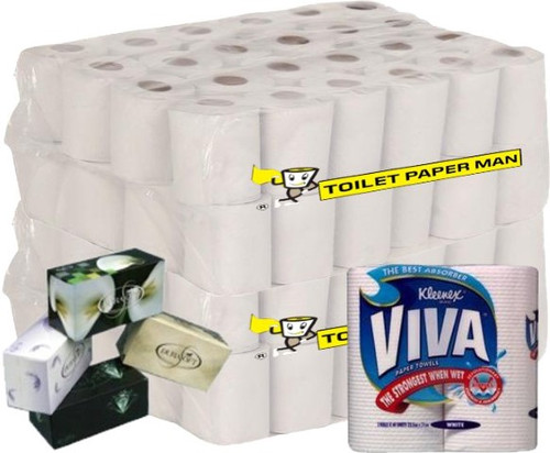 Included In This President Bundle: Mr President - 96 Rolls, Superior Tissues 3 Ply - 36 Boxes, Viva Paper Towels - 12 Rolls