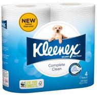 Kleenex Cottonelle Complete Clean Toilet Paper  - 180 Sheets per Roll - 48 Rolls