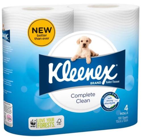 Kleenex Cottonelle Complete Clean Toilet Paper 180