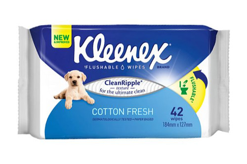 Kleenex Flushable Wet Scented Cleansing Cloths - 42 Per Pack - 10 Packs