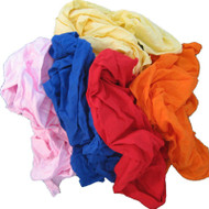 Coloured Soft Knit Rags - 15 kg/Bag