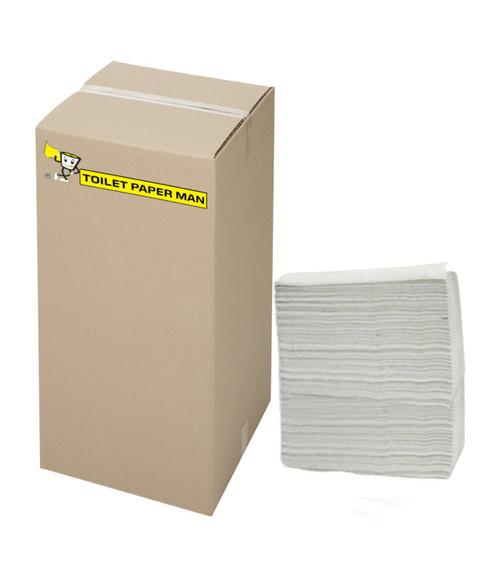 White Interleaved 2 ply Paper Towel - Small 23 x 24cm - 2400 Sheets per Carton