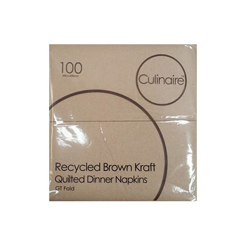 GT Fold Brown Quilted Serviettes - 1000 Sheets per Carton - 6 Cartons