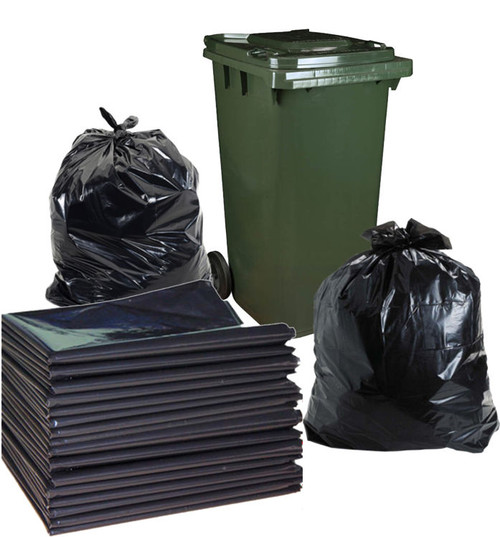 Garbage Bags - 120 Litre Bag - 950mm x 1100mm - 150 Bags