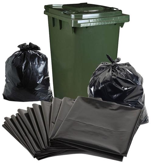 Garbage Bags - Super Heavy Duty - 240 Litre Bag - 580mm x 570mm x 1450mm - 150 Bags