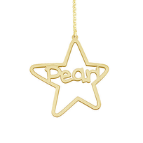 Personalized Name Necklace Pear Star Pendant Style