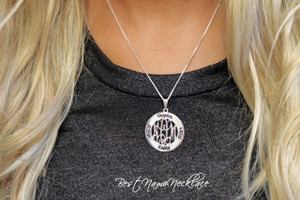 family monogram neckalce