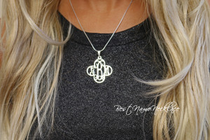 Cross Monogram Necklace
