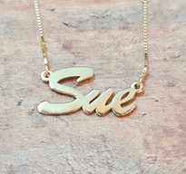 Gold Name Necklace Soho Brush Style