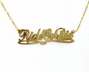 Ride Or Die Necklace, Rideordie,
