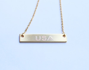 USA Bar Necklace