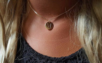 Mini Initial Monogram Necklace