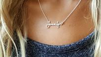 Dainty Minimalist Signature Name Necklace || BestNameNecklace