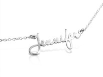 Dainty Minimalist Signature Name Necklace || BestNameNecklace