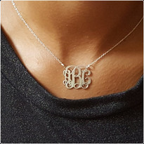 Mini Monogram Name Necklace
