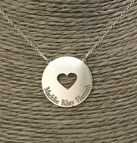 Heart Engraved Circle Necklace