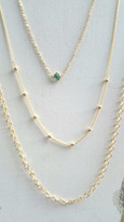 Valencia Layering Set With Aquamarine Gemstone