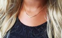 V Bar Layering Necklace