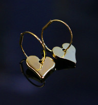 Floating Heart Earrings