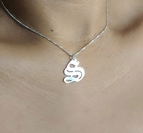 Gothic Old English Initial Necklace